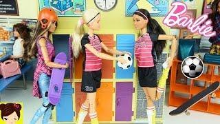 Barbie Made to Move Skateboader , Soccer player Dolls -  Barbie High School Episode
