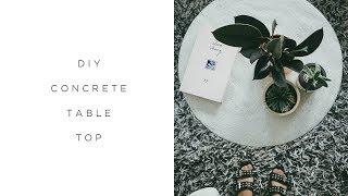 DIY CONCRETE TABLE TOP   |   $10