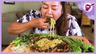 กินขนมจีนแกงไตปลา และวิธีเก็บพริกไทยอ่อน กับยายนางค่ะ