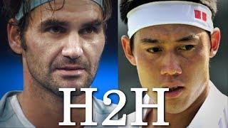 Federer vs Nishikori - All 7 H2H Match Points (HD)