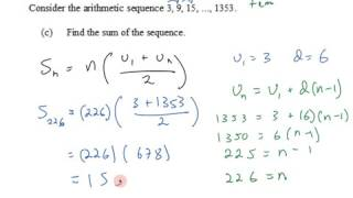 IB SL Math Topic 1 1 7 4 Sum of Arithmatic Series by Formula