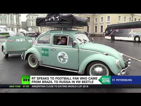 Xxx Mp4 Around The World In A VW Beetle Brazilian Fan Made It All The Way To Russia In Retro Car 3gp Sex