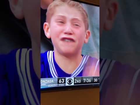 Northwestern Mega Fan sheds tears over bad calls. 03 18 2017. Northwestern vs. Gonzaga NCAA Tourney