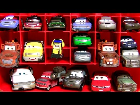 Disney Pixar Cars 2 Mattel Diecasts Mater with Balloon Mater with Duct Tape Storage Carrying Case