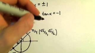 Solving a Basic Trigonometric Equation, Example 2