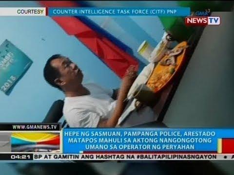 BP: Hepe ng Sasmuan, Pampanga police, arestado matapos mahuli sa aktong nangongotong