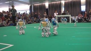 RoboCup EuropeanOpen 2016 SPL Semi Finals: Nao-Team HTWK vs. NaoDevils | First Half