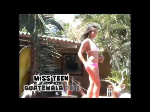 Miss Teen Guatemala 2012 Presentación en traje de baño.