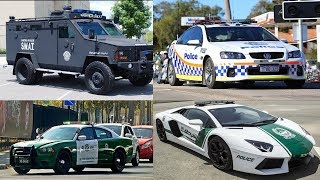 Transport and Vehicles for Children Learn Police Cars for Kids Car Videos