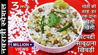अगर खिचड़ी बनाते हुए साबूदाना चिपक जाता है तो जरूर देखे ये वीडियो Navratri Vrat Recipes   Vrat Khana