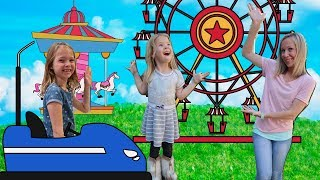 Addy and Maya go to a REAL Super Cool Carnival