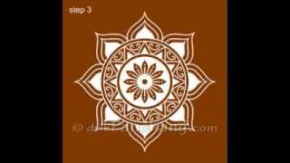 How to draw Alpona bd  আল্পনা আলপনা আঁকা24design BangladeshBangla yearart Bangalipohela boishakh
