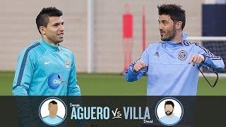 Corner Challenge | AGUERO v VILLA | Challenge 3