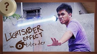I turned my Flashlight into a Lightsaber | BLENDER HOW TO | VISUAL EFFECTS