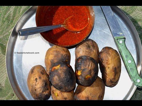 Roasted Potatoes | Village Cooking in India | Amazing Food By Nikunj Vasoya