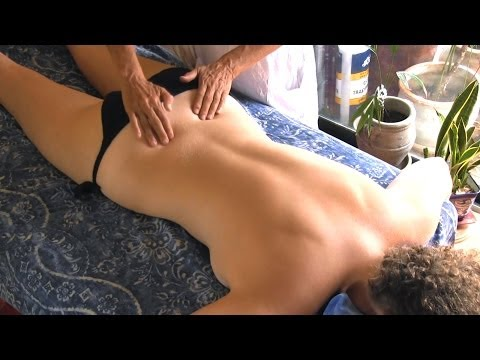 Back Massage Therapy How to for Sciatica Pain Relief Treatment Cranio Sacral Techniques
