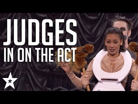 Got Talent JUDGES Get in on The Act Including Tape Face & More Got Talent Global