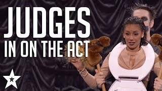 Got Talent JUDGES Get in on The Act | Including Tape Face & More! | Got Talent Global