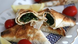 Lavash Herb Triangles - Armenian Cuisine - Heghineh Cooking Show