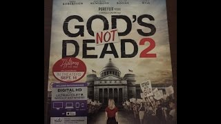 Unboxing God's Not Dead 2 Blu Ray/DVD/digital copy