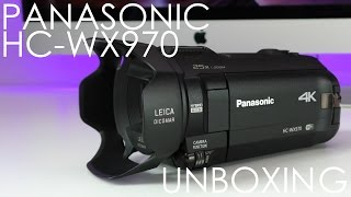 Panasonic HC-WX970 4K Ultra HD Video Camera Unboxing & First Look
