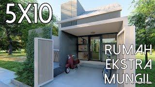 Desain rumah ekstra mungil 5x10m [kode 010B]