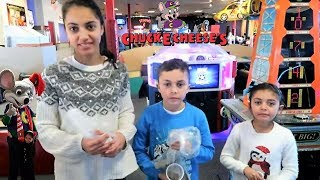 Chuck E Cheese Arcade Challenge ticket and prize!!! Family Fun Indoor Activities for Kids