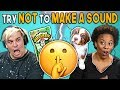 Adults React To Try Not To Make A Sound Challenge