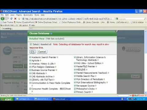 How to Find Journal Articles in the Ebsco Databases (University of Arkansas Libraries)