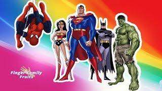 Hulk Wrong Heads Super Superheroes Learn Colors For Kids - Finger Family