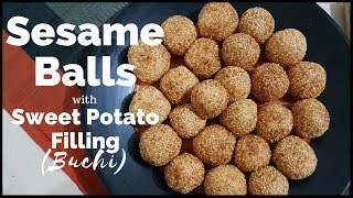 How to Make Buchi with Kamote Filling | Sesame Balls with Sweet Potato Filling