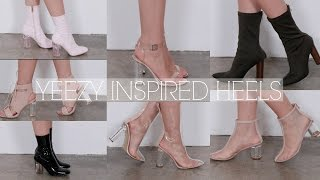 YEEZY INSPIRED SHOES | CLEAR HEEL SHOES ft. Public Desire| Solange Nicole