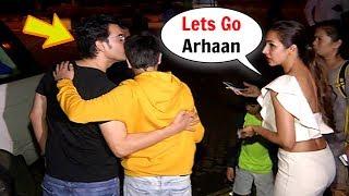 Arbaaz Khan Kisses Son Arhaan Khan IGNORING Ex Wife Malaika Arora Khan In Public