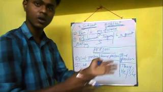 what is Subject, object and person in English Grammar ( bengali language)
