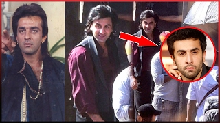Ranbir Kapoor First Leaked Pictures From The Sets Of Sanjay Dutt