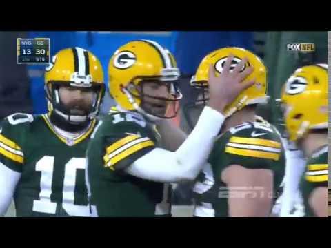 De novo Nova Hail Mary de Aaron Rodgers Packers 38 13 Giants NFL 2016 2017