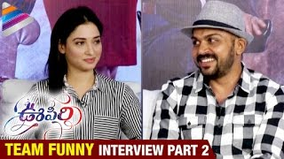 Oopiri Movie Team Funny Interview | Part 2 | Nagarjuna | Karthi | Tamanna | Telugu Filmnagar