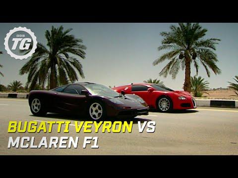 Bugatti Veyron vs McLaren F1 Top Gear BBC