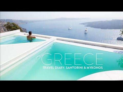TRAVEL VLOG GREECE Santorini & Mykonos