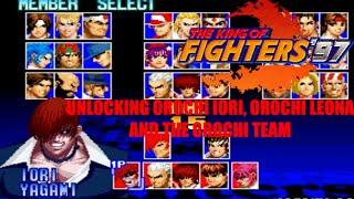 The King of Fighters 97 - Unlocking Orochi Iori, Orochi Leona, and Orochi Team (Arcade Version)