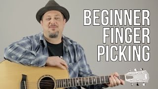 Beginner Fingerpicking Guitar Lesson - How to play Fingerstyle Guitar For a Beginner