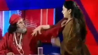 Bigg boss swami om pressed lady boobs in public and arrested by police