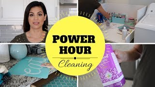 POWER HOUR CLEANING   CLEANING ROUTINE   STAY AT HOME MOM