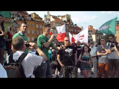 Manifestacja anty-imigrancka w Warszawie