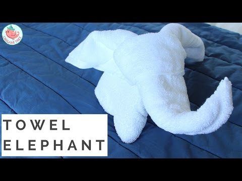 How to Fold A Towel Animal: Elephant Towel Folding in Resort, Hotel, Bed & Guest Room, Home, Cruise