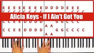 ♫ ORIGINAL - How To Play If I Ain't Got You Alicia Keys Piano Tutorial Lesson - PGN Piano