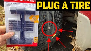 How To Plug A Tire - Video