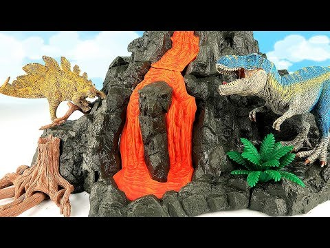 Schleich Giant Volcano T Rex Learn Dinosaur With Flowing Lava Dino Toys