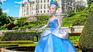 Story Time w/ Toys & Dolls! - CINDERELLA With Barbie & Disney Princess Dolls Kid-friendly Family Fun