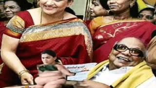 Kusboo with karunanidhi